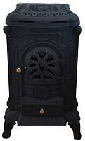 Чугунная печь камин Bonro Black 9 кВт (двойные стенки)