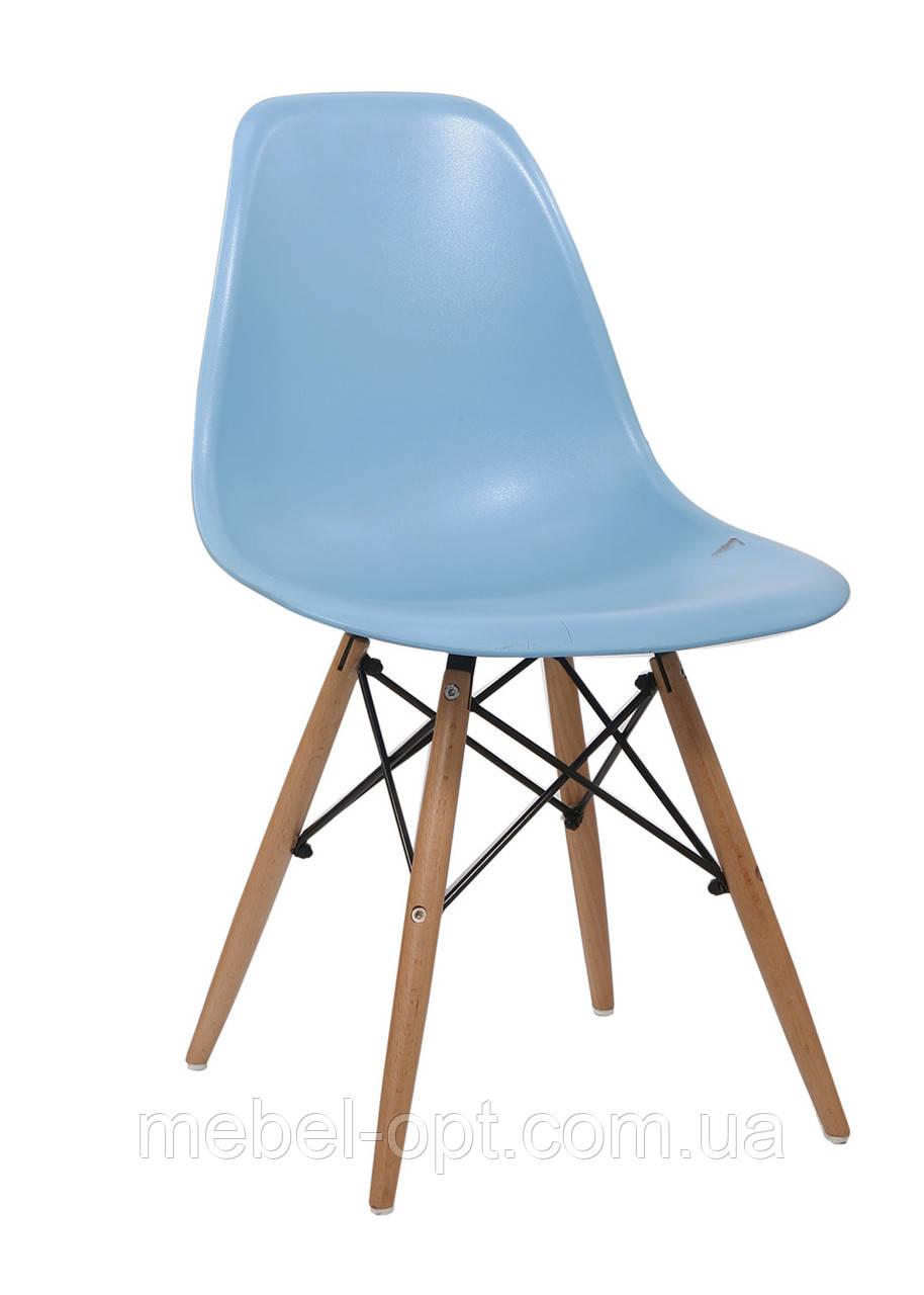Стул дизайнерский Enzo DS-913 голубой, дизайн Charles Eames DSW