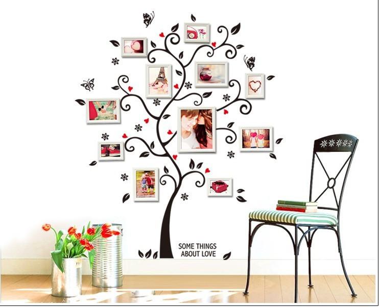 """Наклейки (стикеры)  """"Дерево"""" для фотографий, Дизайн и декор"""