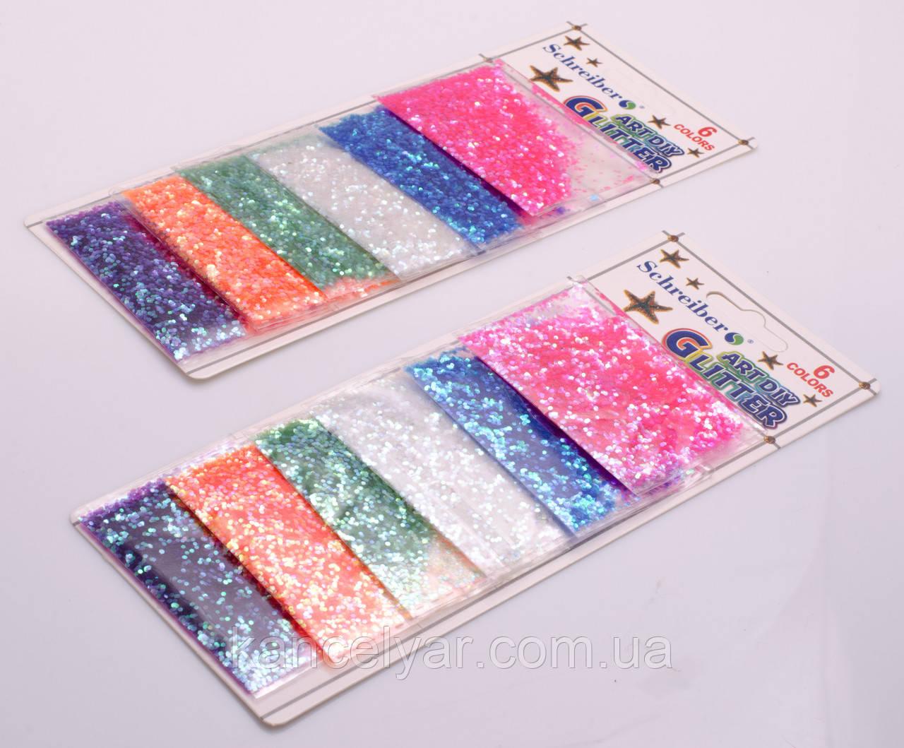 Декор в пакетиках, 6 кольорів, 3 м