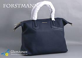 Сумка женская кожаная большая Forstmann P40 синяя