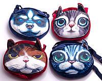 """Сумочка детская """"Животные: коты-собаки"""", 18х19 см, в ассортименте, фото 1"""
