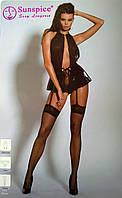 Платье черное с трусиками и чулками