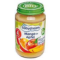 Babydream Пюре фруктовое Органическая Манго с яблоком 190 г  с 4-го мес.
