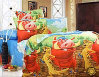 """Детский постельный комплект """"Тимон и Пумба"""""""
