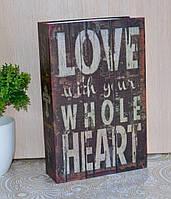 """Книга-сейф в виде настоящей книги """"Я люблю тебя всем сердцем""""., фото 1"""