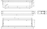 Корпус металевий Rack 1U, модель MB-1100SP (Ш483(432) Г102 В44) чорний, RAL9005(Black textured), фото 3