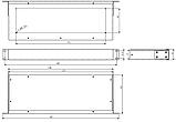 Корпус металевий Rack 1U, модель MB-1160SP (Ш483(432) Г162 В44) чорний, RAL9005(Black textured), фото 3