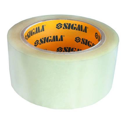 Скотч упаковочный прозрачный Sigma 45ммх50м (8401221), фото 2