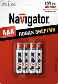 Батарейка Navigator 94751 NBT-NE-LR03-BP4 лужна, ААА,1- блістер,4шт