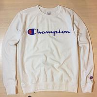 Свитшот белый принт Champion   Кофта стильная