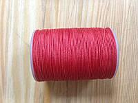 Нитка вощёная, плетенная, круглая, красного цвета, толщина - 0,7 мм, 65 метров, артикул СК 5194