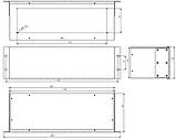 Корпус металевий Rack 3U, модель MB-3160SP (Ш483(432) Г162 В132) чорний, RAL9005(Black textured), фото 3