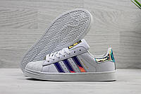 Кроссовки женские Adidas Superstar код SD-3904 Белые с лаковым