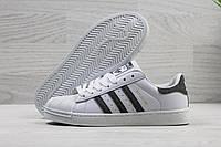 Кроссовки женские Adidas Superstar код SD-3903 Белые с серым