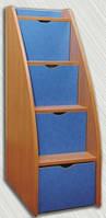 Ступеньки-горка для двухъярусной кровати (Альфа мебель) 740х475х1365мм