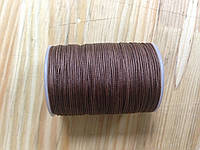Нитка вощёная, плетенная, круглая, коричневого цвета, толщина - 0,7 мм, 65 метров, артикул СК 5195