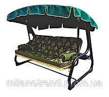 Качель садовая Spring-Swing Barokko Green-Gold