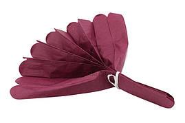 Помпон из тишью, бордовый, 30 см