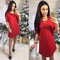 999253dc717 Женское нежное платье прямого кроя