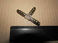 Тройник 6мм зубчатый для трубки (металл) (RIDER) RD 01.01.60