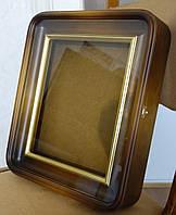 Киот ровный с закруглёнными углами и двойной деревянной рамой., фото 1