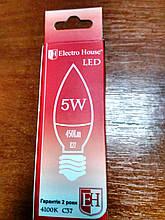 Лампа Electro House світлодіодна 5W 450Lm Е27 свічка