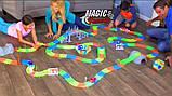 Гоночная трасса Magic Tracks, 220 дет, Автотрек, Игрушечная дорога, Конструктор, фото 7