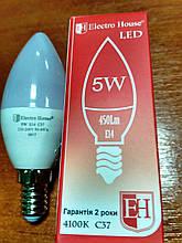 Лампа Electro House світлодіодна 5W 450Lm Е14 свічка