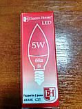 Лампа Electro House светодиодная 5W 450Lm Е14 свеча, фото 2