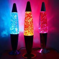 Светильник ночники Лава лампа с глиттером 34 см  Лавовая лампа, парафиновая лампа, магма лампа, Magm