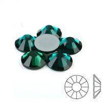 Термостразы DMC, размер SS30 (6,5мм), уп 71 шт. Цвет Emerald (изумруд, смарагд)