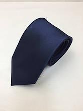 Галстук классический темно-синий атлас
