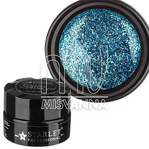 Глиттерный гель Starlet Professional №03 10 мл голубой