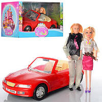 Машина для куклы, с куклой и Кеном, в кор., 49*23*24см (12шт)