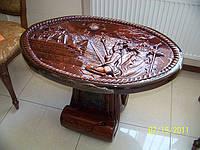 Стол журнальный, резной стол из дерева, фото 1