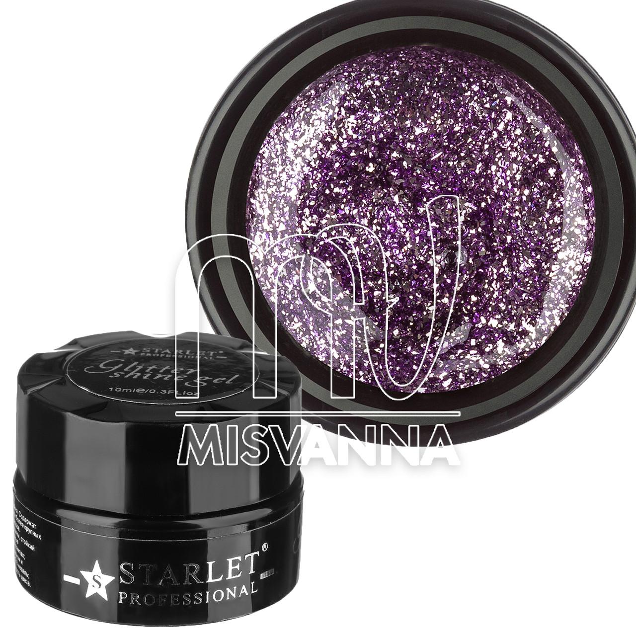 Глиттерный гель Starlet Professional №06 10 мл фиолет