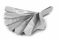 Помпон из тишью, серебряный, 30 см