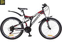 """Велосипед двухподвесный 26"""" Formula Safari2018 черно-красный"""