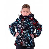 """Зимний термокомбинезон, лыжный """"Графити"""" для мальчика р.98-128 ТМ Pidilidi-Bugga (Чехия)"""