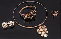 Набор бижутерии: колье, серьги, кольцо, браслет 61154263