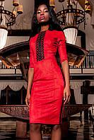 Красиве жіноче плаття з еко-замші в 5 кольорах Ерні