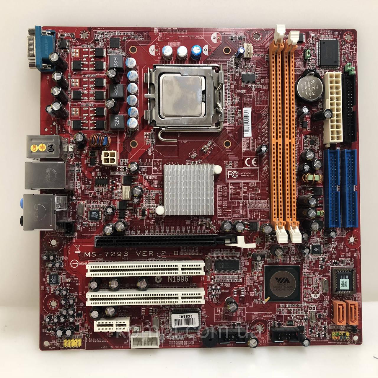 Материнская плата MSI MS 7293 + E2140  S775/C2D DDR2