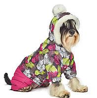 """Зимний комбинезон """"Герда"""" для собак, размер М (для девочек)"""