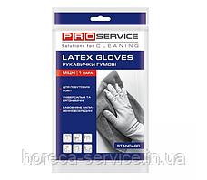 Перчатки PRO-Service Standart Прочные S, M, L латексные желтые