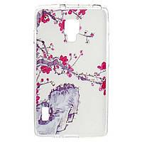 Чехол для моб. телефона для LG Optimus P713 (White) Cristall PU Drobak (211585)