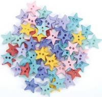 Пуговицы для кукол мини, звёздочки