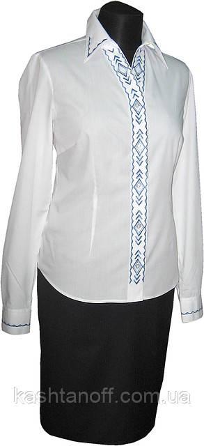 Классическая блуза с вышивкой