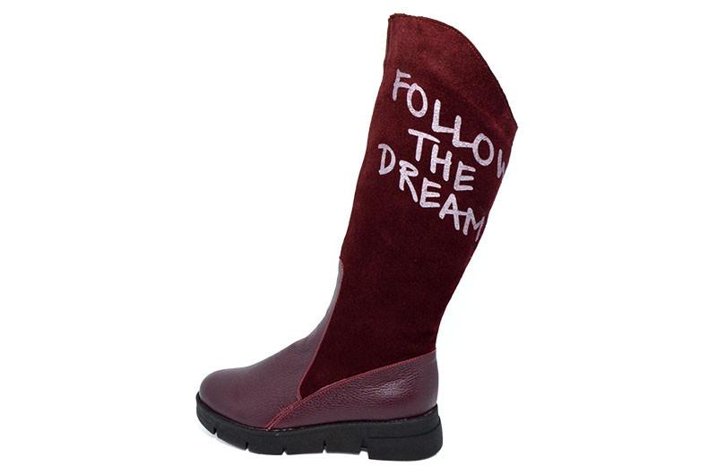 Сапоги женские зимние Polin 504 Burgundy - Sezon интернет-магазин обуви в  Черновцах 5327c8d0e577c