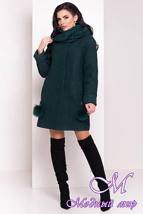 """Женское теплое и стильное зимнее пальто (р. S, М, L) арт. Ларси """"3809"""" - 20220, фото 2"""